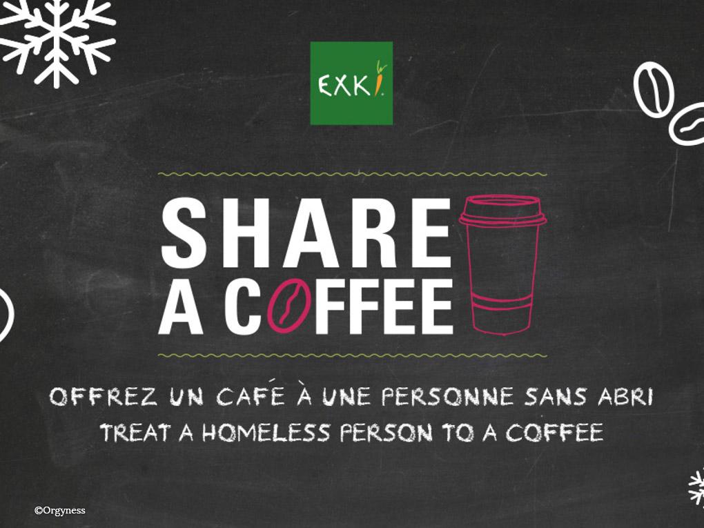 Café suspendu chez Exki du 9 au 31 janvier