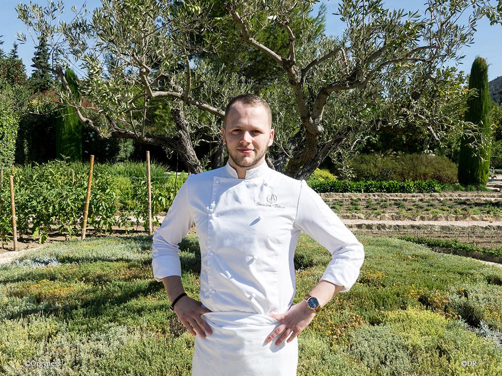 Brandon Dehan, chef pâtissier à l'Oustau deBaumanière