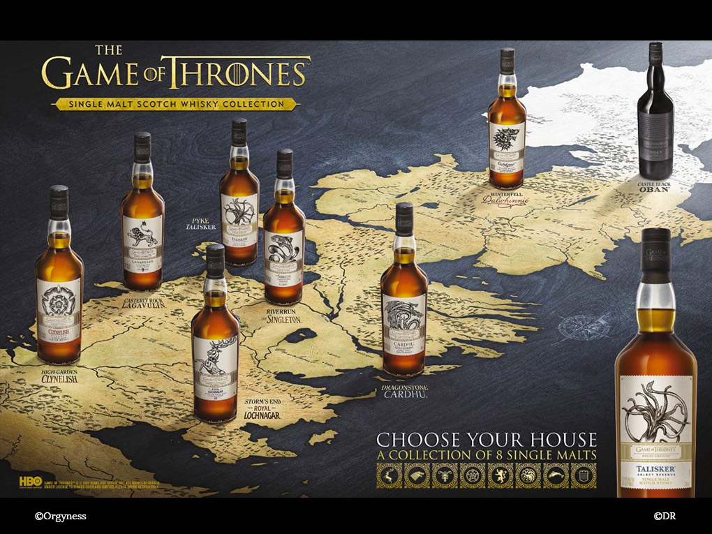 La collection de Whisky Game of Thrones