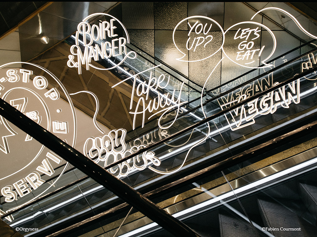 Le Food Court des Galeries Lafayette Champs Elysées