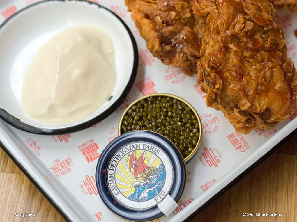 Le Fried Chicken Caviar par Petrossian x FTG